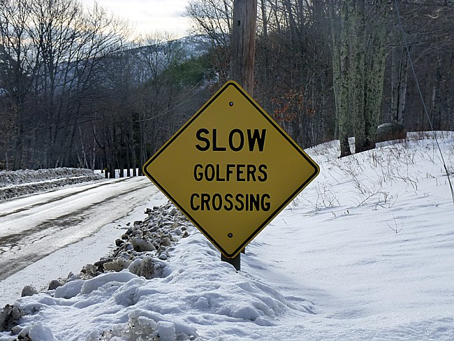 Golfers Crossing